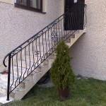 Balustrada zewnętrzna przy schodach | Fabro