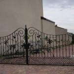 Artystyczna kuta brama wjazdowa | Fabro